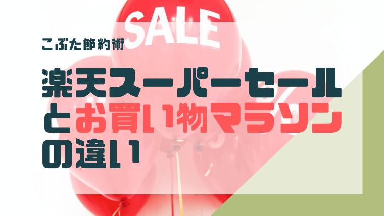 アイキャッチ026(楽天市場スーパーセールとお買い物マラソン)